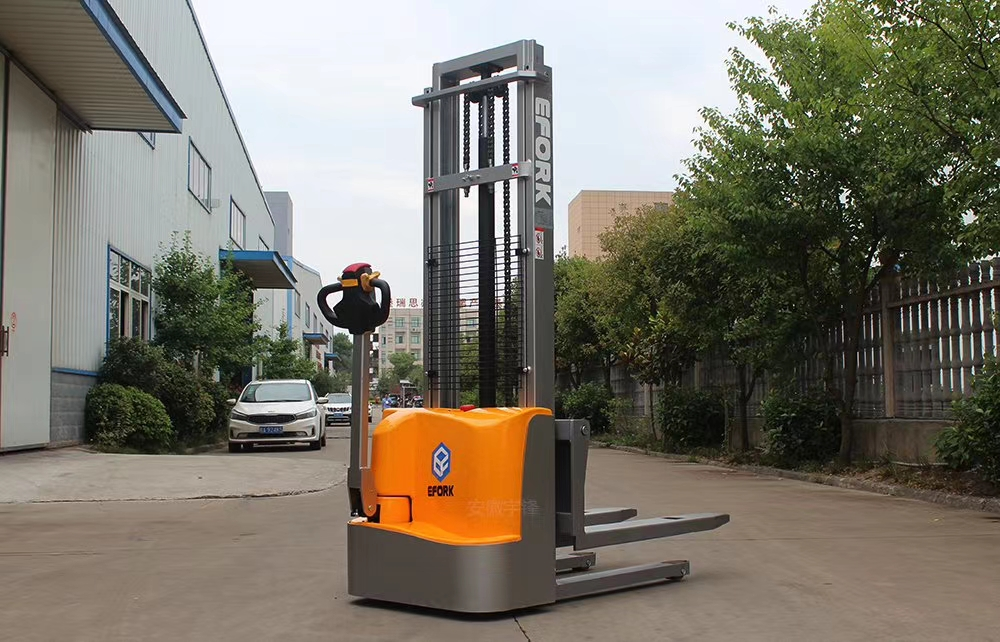 walkie type electric pallet stacker