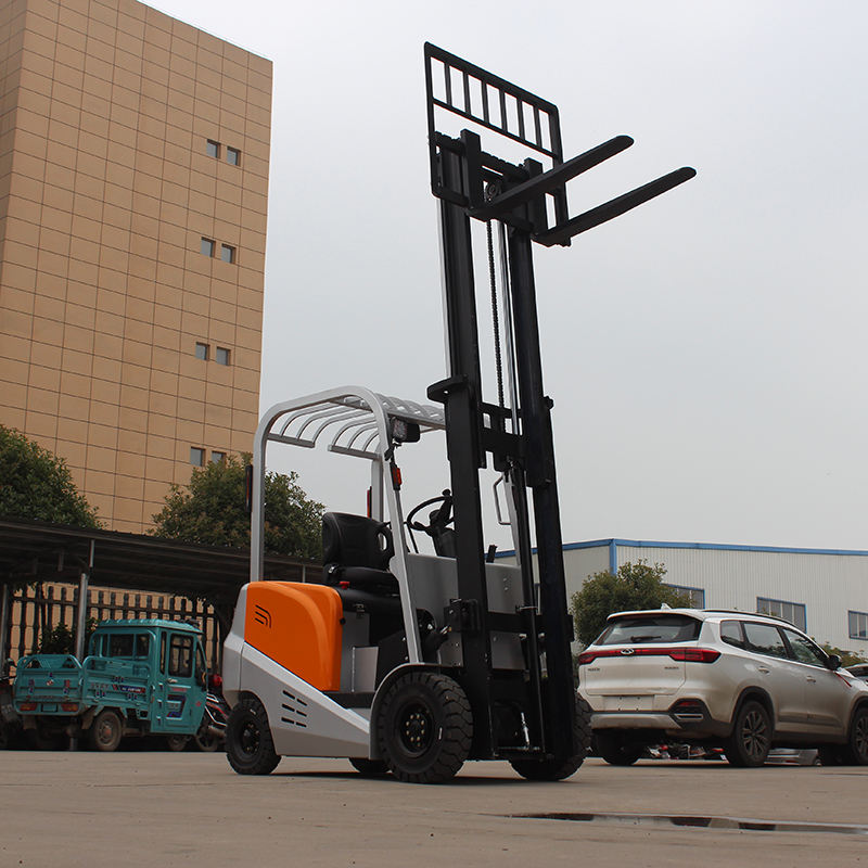 Sit-Down Counterbalance Forklift 4 wheel counterbalanced weight forklift with backward function